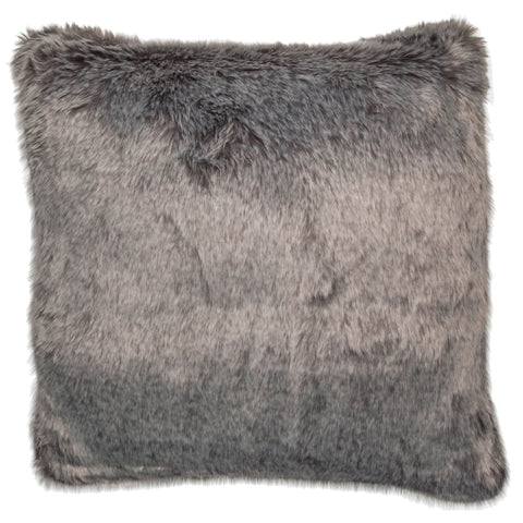 Malini Buzzard Grey Faux Fur Cushion-Cushion-The Modern Home Shop