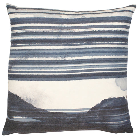 Malini Blake Blue & Cream Cushion-Cushion-The Modern Home Shop