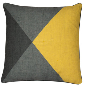 Malini Dali Mustard Cushion-Cushion-The Modern Home Shop