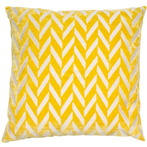 Malini Jaz Mustard Cushion-Cushion-The Modern Home Shop