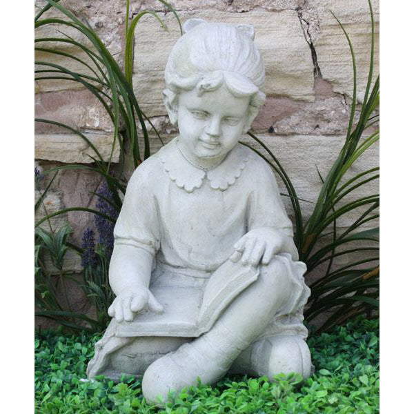 Stone Effect Girl Reading Garden Ornament