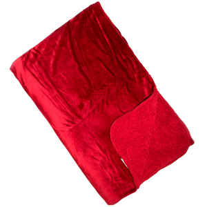 Malini Cosy Scarlet Red Throw-Throw-The Modern Home Shop