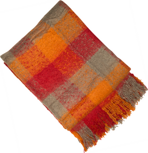 Malini Sandringham Orange Blaze Throw