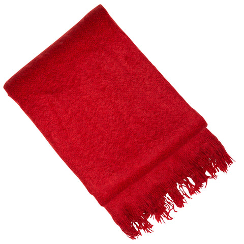 Malini Vogue Scarlet Red Throw-Throw-The Modern Home Shop