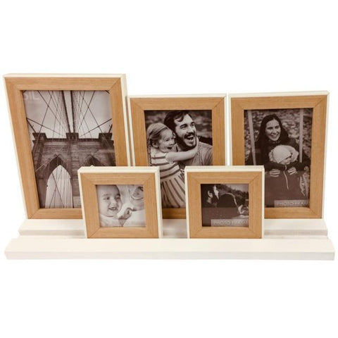 Five Frames on White Tray Base-Decor-The Modern Home Shop