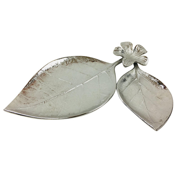 Leaf & Flower Tray Ornament 31cm-Decor-The Modern Home Shop