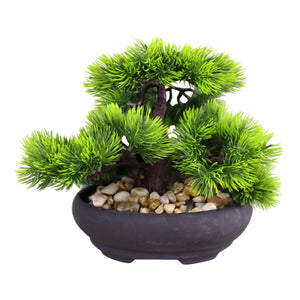 Eastern Faux Bonsai Tree In Fir Tree Style-Artificial Plant-The Modern Home Shop