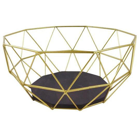 Golden Geometric Style Wire Bowl-Decor-The Modern Home Shop