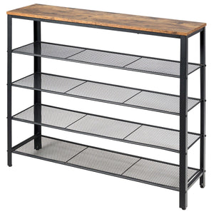 5-Tier Industrial Style Shoe Storage or Shelving Unit-Side Table-The Modern Home Shop