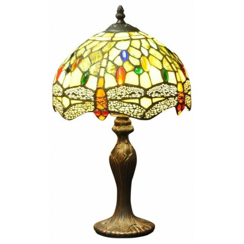 "Green Dragonfly Tiffany Lamp 10""-Lamp-The Modern Home Shop"