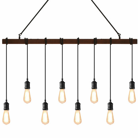 8 Head Industrial Vintage Pendant Lamp-Lighting-The Modern Home Shop