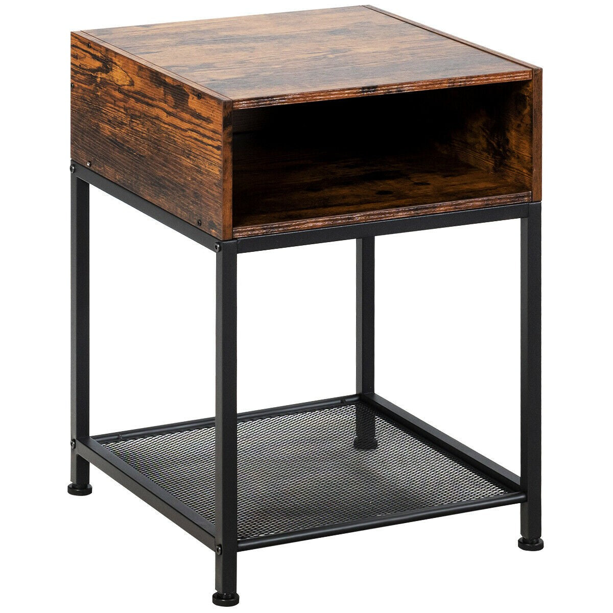 Industrial Style Side Table Or Nightstand-Side Table-The Modern Home Shop
