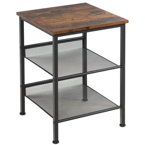 3-Tier Industrial Style Side Table-Side Table-The Modern Home Shop