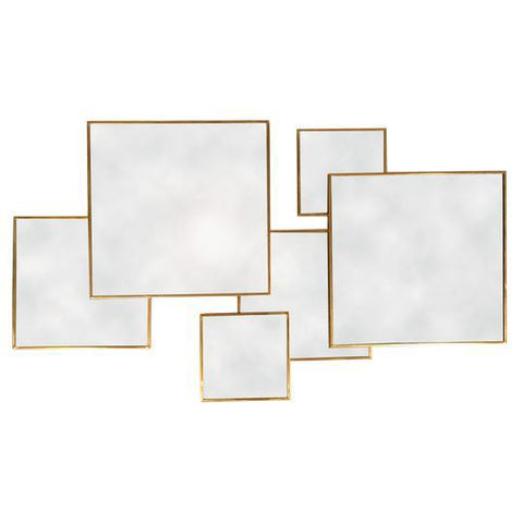 Gold Framed Multi Mirror - Square-Mirror-The Modern Home Shop