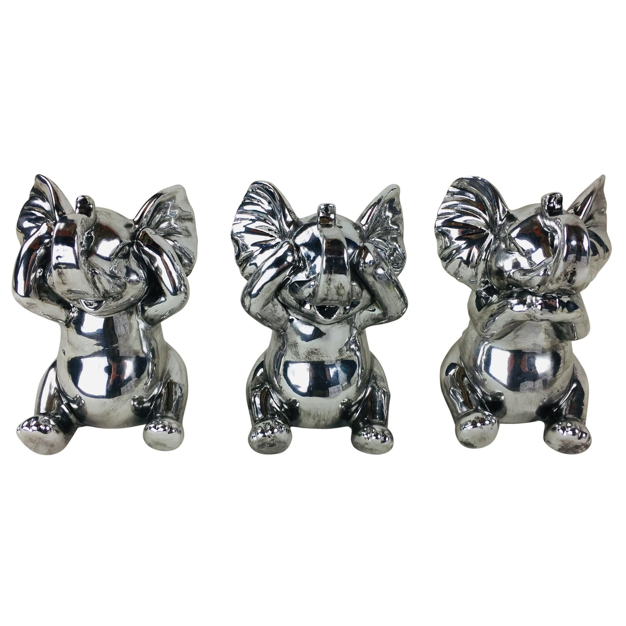 Trio of Elephant Ornaments-Decor-The Modern Home Shop