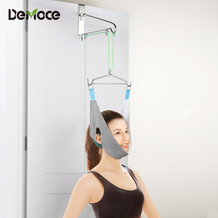 Over-the-Door Cervical Traction Device