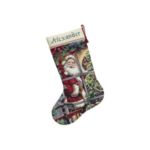 Candy Cane Santa counted cross stitch kit