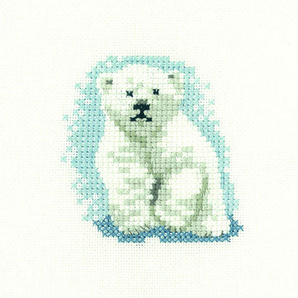 Polar Bear Cub- Little Friends counted cross stitch chart