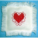 Lacy Heart counted cross stitch chart