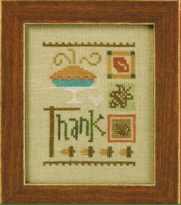 Thank counted cross stitch chart