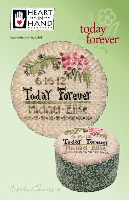 Today Forever counted cross stitch chart