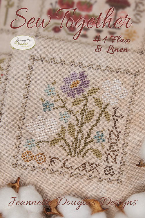 Flax and Linen Sampler Chart - Sew Together #4