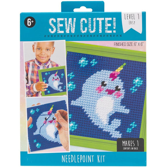 Narwhal needlepoint kit