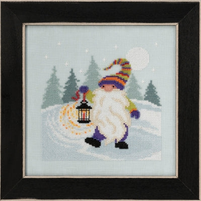 Hiking Gnome counted cross stitch kit