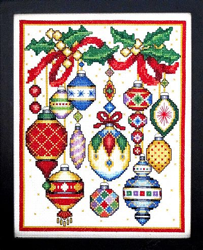 Christmas Ornaments counted cross stitch chart