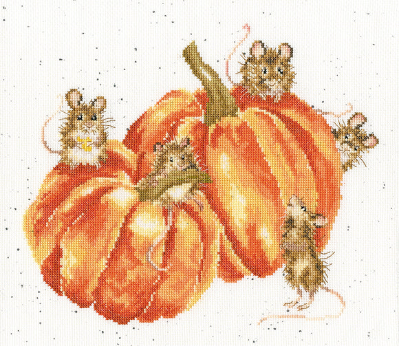 Pumpkin, Spice, and All Things Mice Cross Stitch Kit