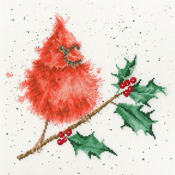 Festive Feathers Cross Stitch Kit