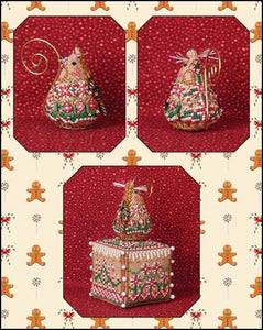 Gingerbread Candy Cane Mouse cross stitch chart