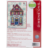 Holiday Home counted cross stitch kit