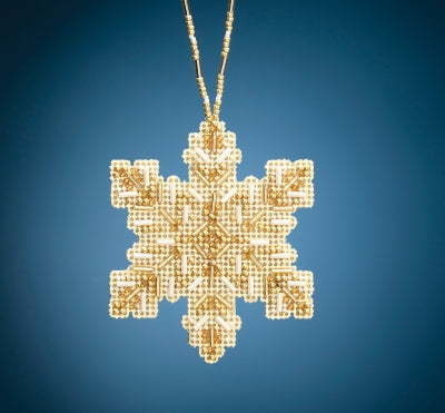 Golden Snowflake Beaded Holiday kit