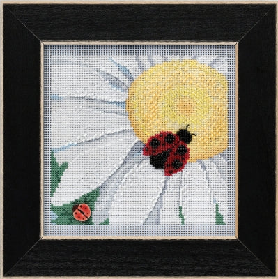 Ladybug on Daisy counted cross stitch kit