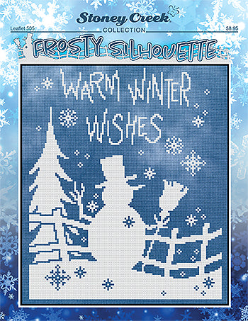 Frosty Silhouette counted cross stitch chart