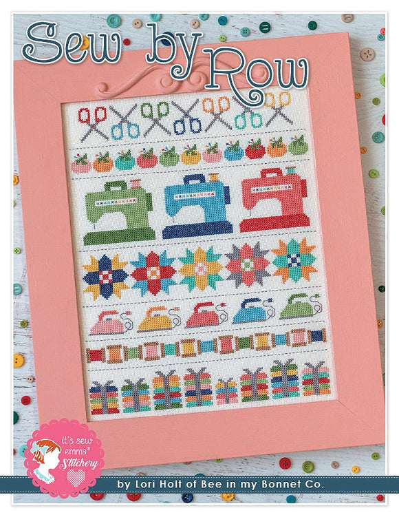 Sew by Row counted cross stitch chart