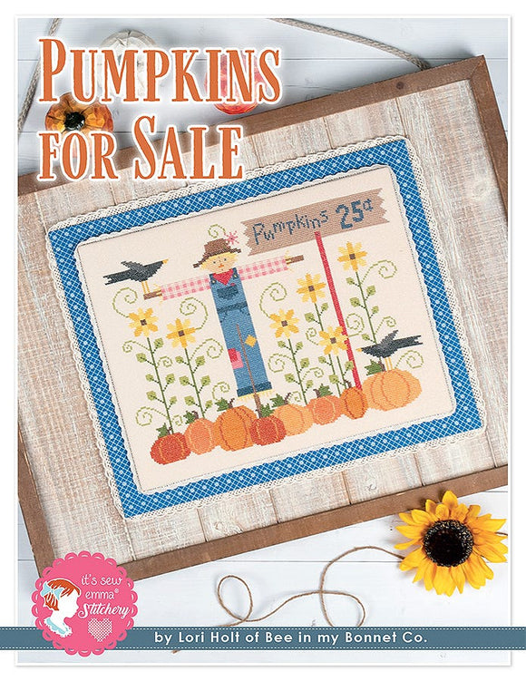 Pumpkins for Sale counted cross stitch chart