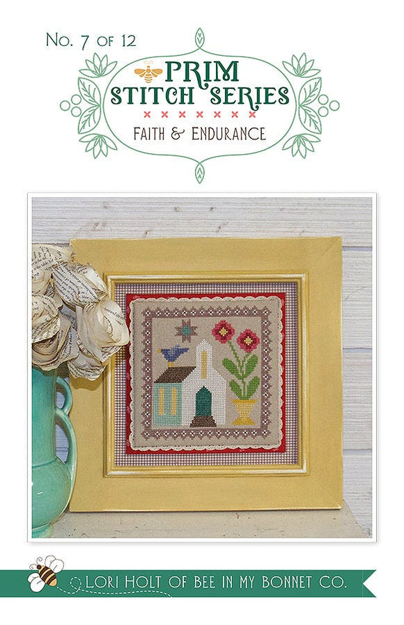 Prim Stitch Series #7 - Faith & Endurance counted cross stitch chart