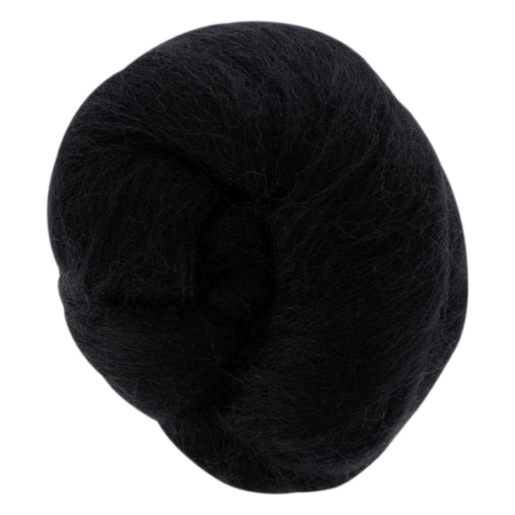 Wool Roving - Black