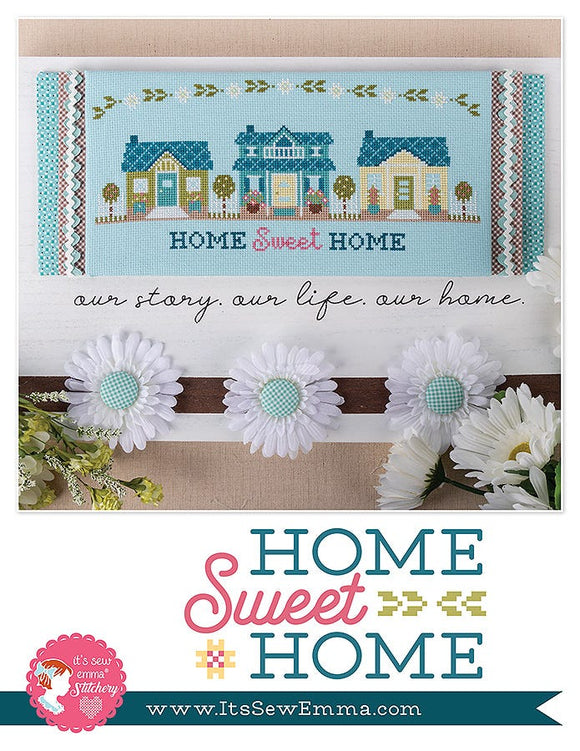 Home Sweet Home counted cross stitch pattern