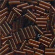 72023 Root Beer Mill Hill Small Bugle beads
