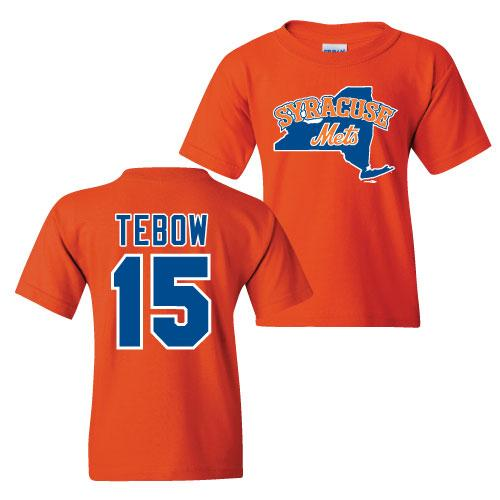 Syracuse Mets BR Orange Youth Tebow T-shirt