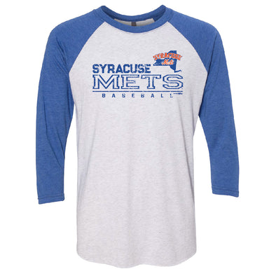 BR White/Royal Men's Raglan