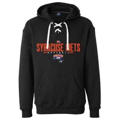Syracuse Mets BR Black Lace Up Hooded Sweatshirt