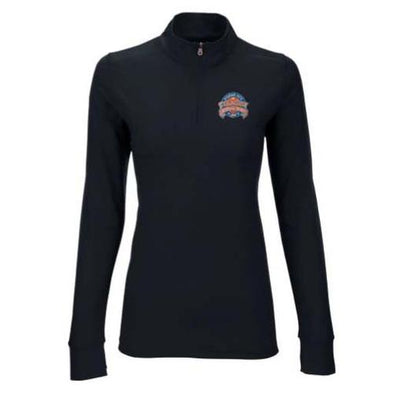 Syracuse Mets Vant Black Ladies 1/4 Zip Pullover