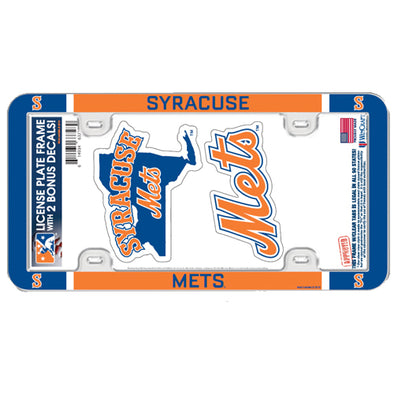 Syracuse Mets License Plate Holder & 2 Decals