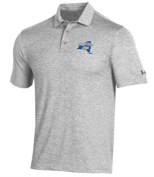 UA Grey Playoff 2.0 Heather Polo