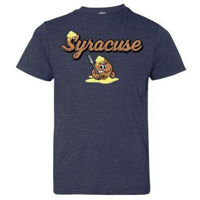 Syracuse Mets Navy Salt Potatoes Men's T-shirt