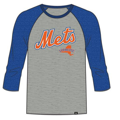 47 Grey/Royal Men's Raglan